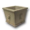 BR-778 Cast Stone Square Lion Concrete Planter