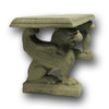 Griffin Cast Stone Concrete Bench - Side View