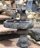 Rock Balancing Bird bath sculpture, Natural balancing rocks, hand sculpted bird bath, concrete bird bath, stone bird bath