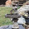 Rock Balancing Bird bath sculpture, Natural balancing rocks, concrete bird bath, stone bird bath, outdoor water feature