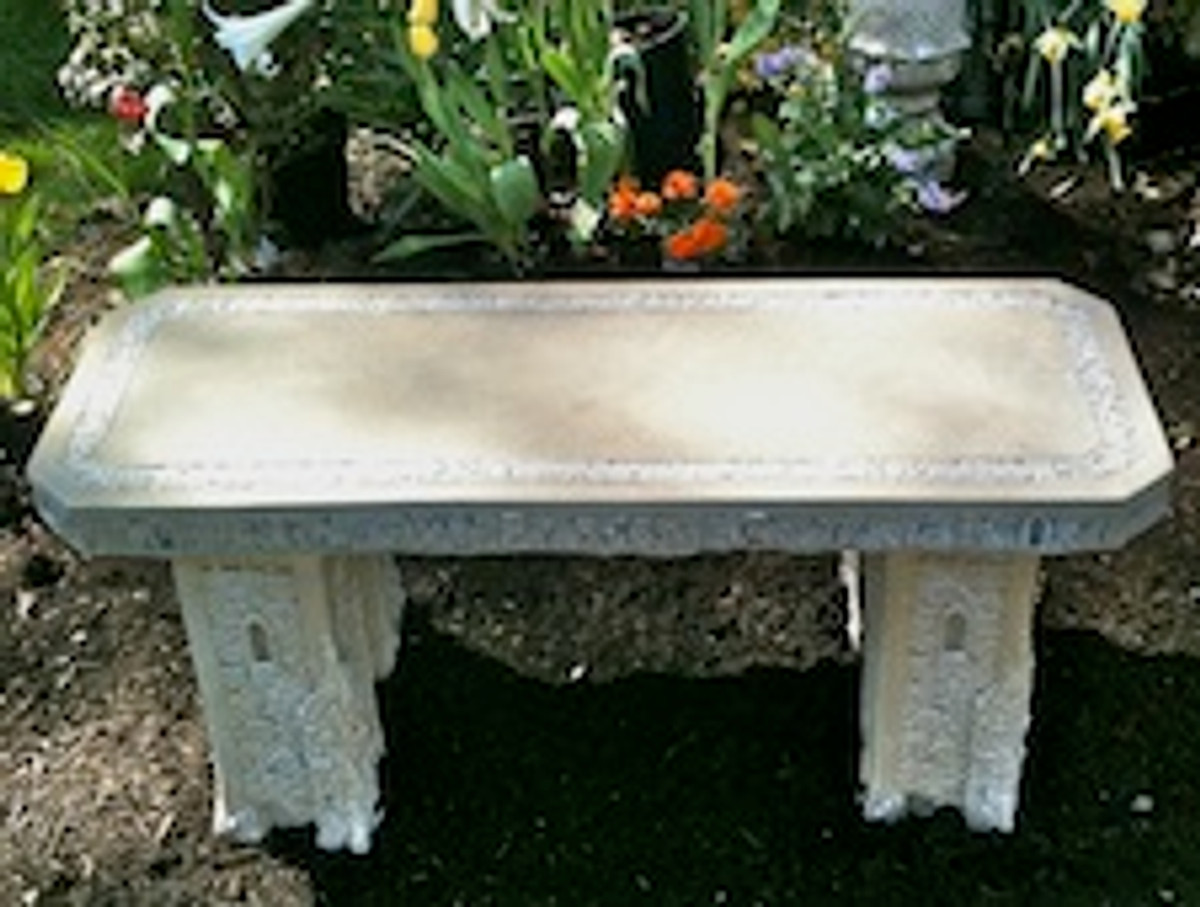 Concrete bench, Straight Stone Garden Bench, Cast Stone Bench, Garden Rock Bench, Classical Garden Bench, Victorian outdoor furniture