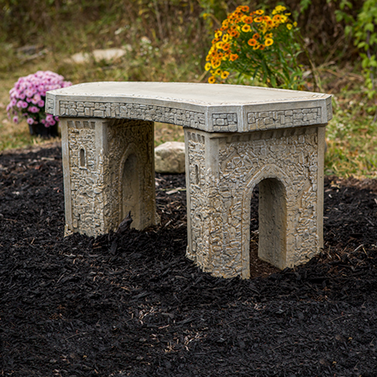 Small Stone Curve Bench