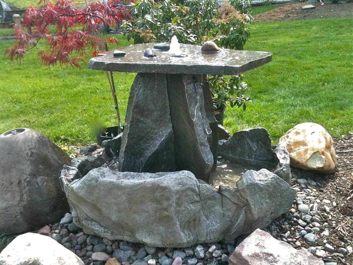 concrete water fountain, stone patio fountain, garden fountain, sculpted fountain, falling water, garden fountain, concrete fountain, patio water feature, patio fountain, large fountain