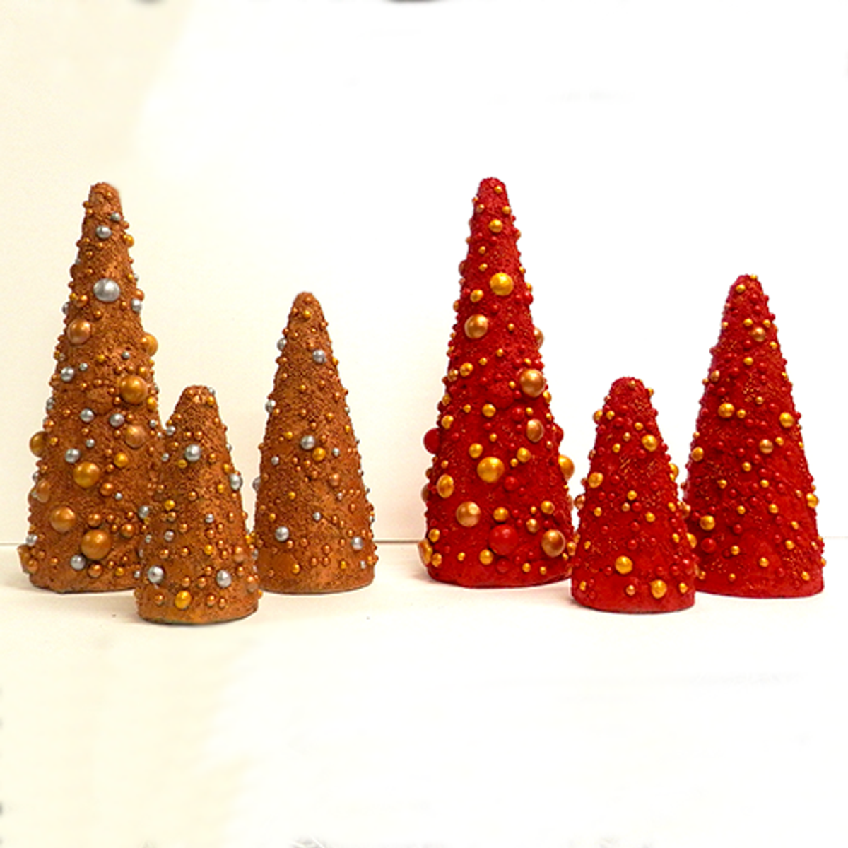 Christmas Ornament Cone Trees