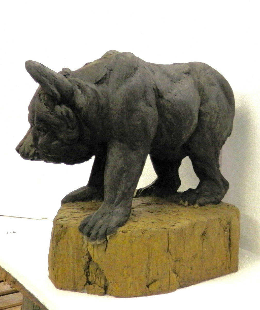 Wildlife Sculpture Black Bear Cub