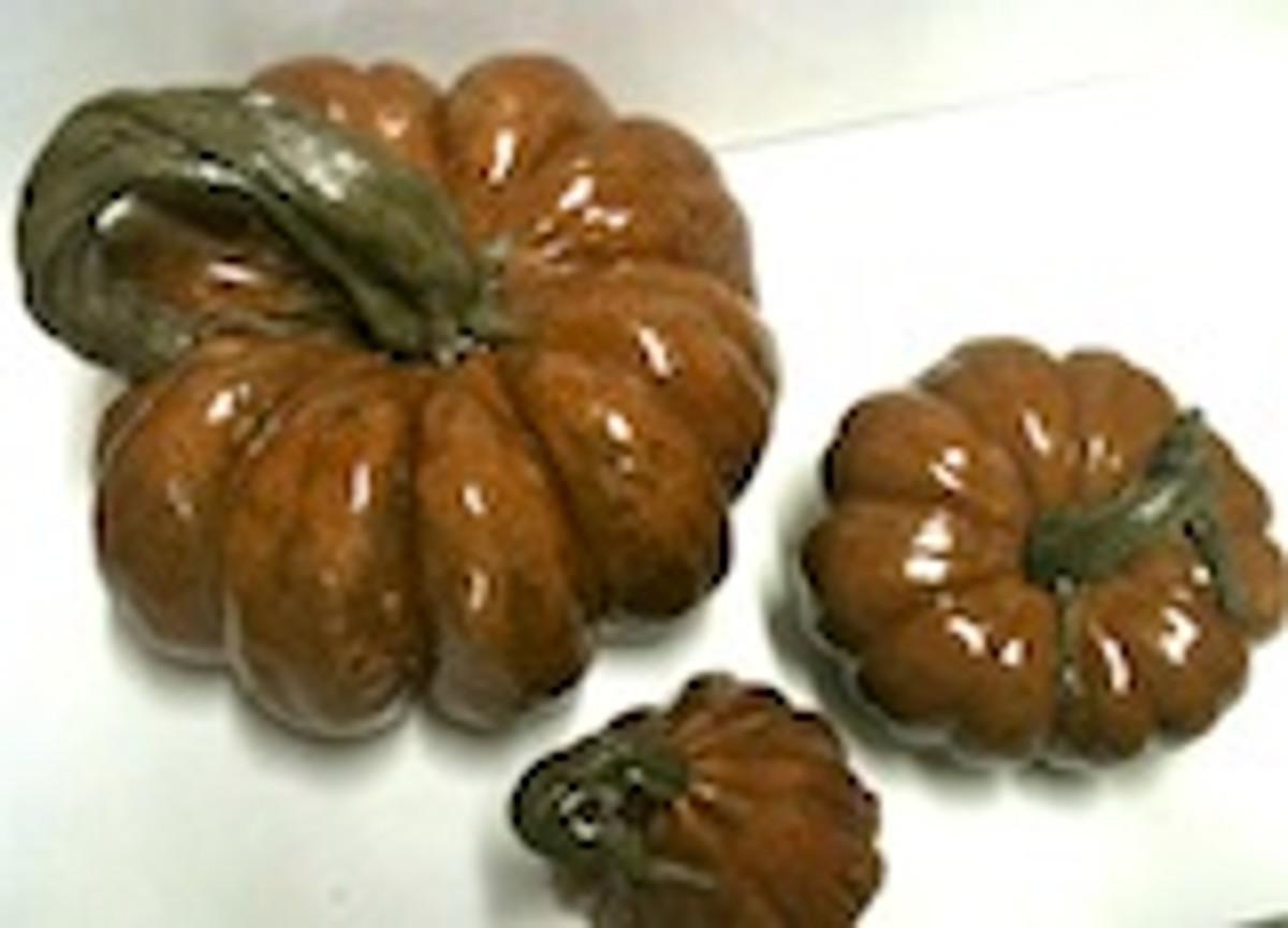 Pumpkins Cinderella Set of Three Stone Pumpkins, Concrete Pumpkins, Fall decor, cast stone pumpkins