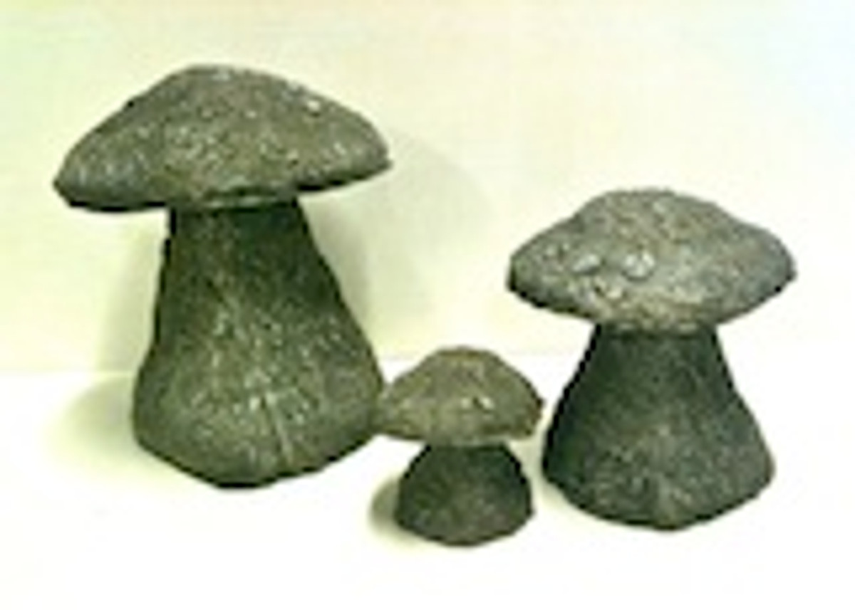 set 3 Staddle Stone English, English Garden Staddle Stone, hand sculpted mushroom, rock mushroom, Staddle Stone English, English Garden Staddle Stone, hand sculpted mushroom, rock mushroom, Hand made garden decor mushrooms, concrete staddle stones, cement mushrooms, three sizes