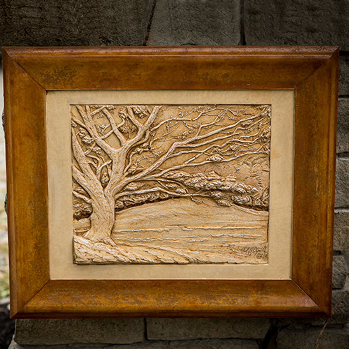 """Stone Picture """"Spring Dog Wood"""""""