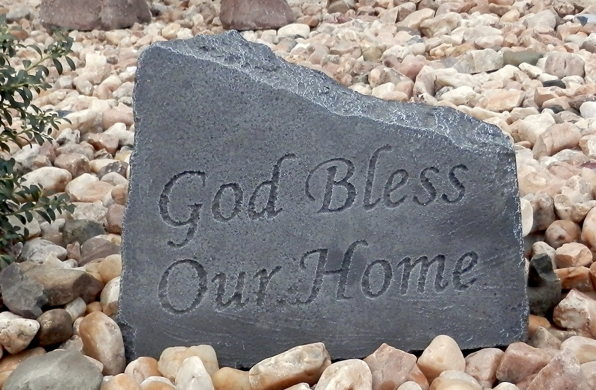 God Bless Our Home Stone