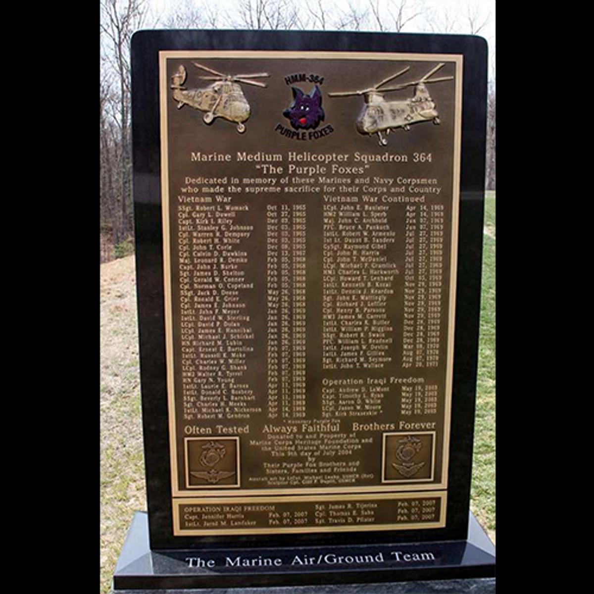 Purple Foxes Memorial