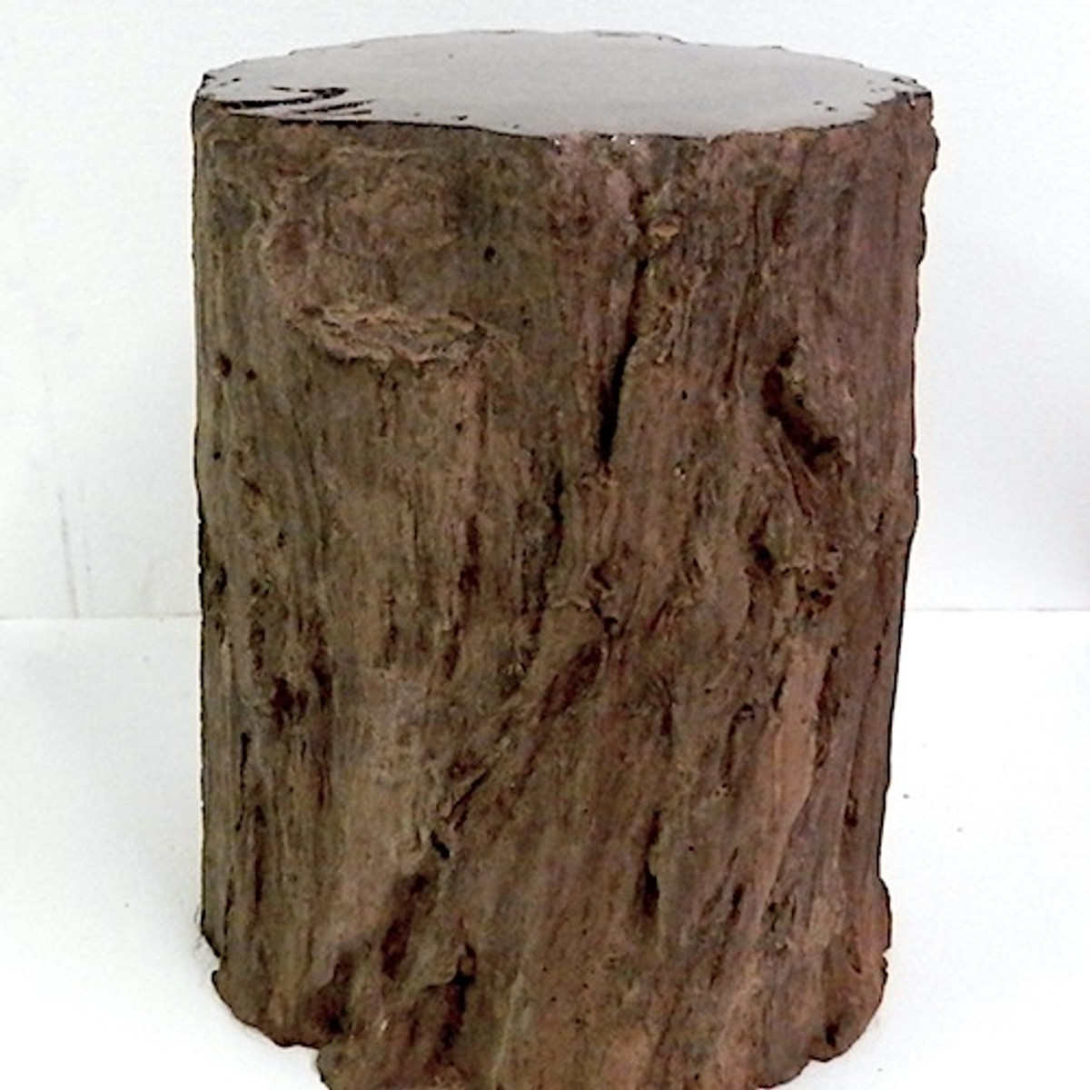 fire pit seat, concrete seat, concrete bench, outdoor bench, outdoor furniture, fossilized wood, tree stump, concrete tree stump, wood sculpture