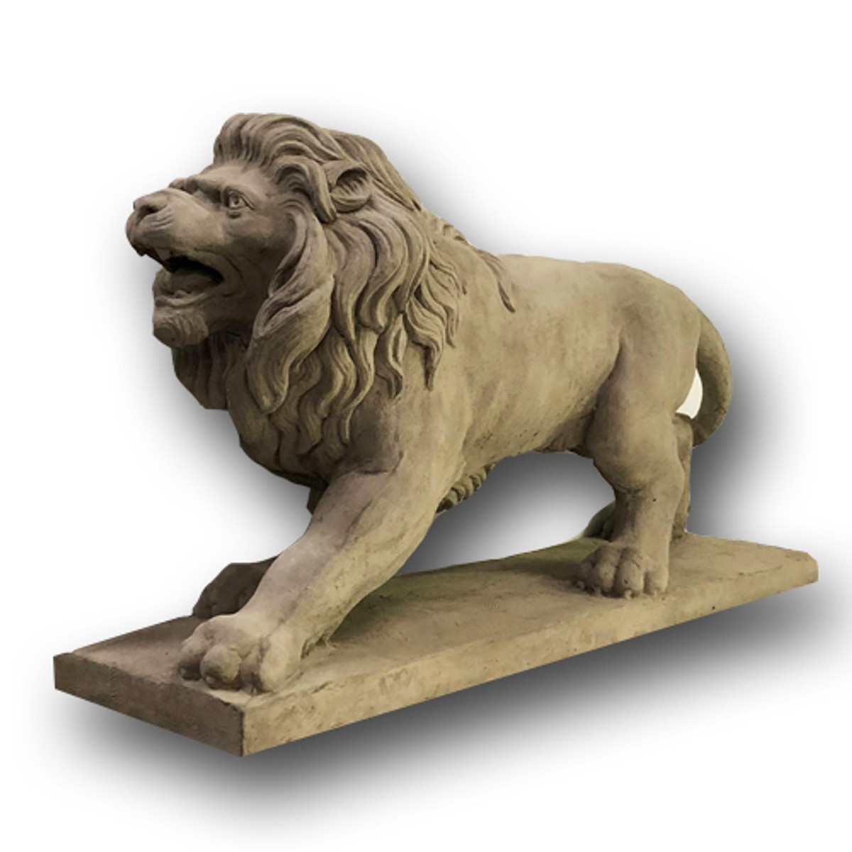 BR-011 Life Size Classical Lion Sculpture front