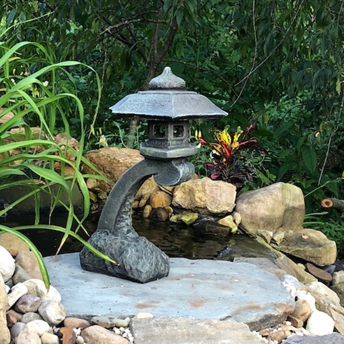 Concrete Pagoda Small Curved Japanese Pagoda Lantern Athena Garden