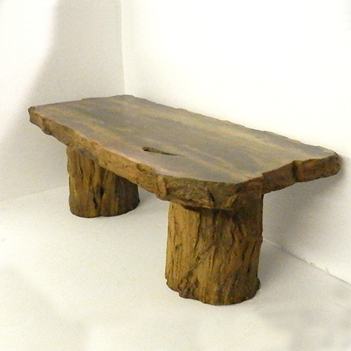 indoor coffee table, outdoor table, coffee table, concrete table, outdoor bench, garden bench, wood bench, fossilized wood, tree stump, cast stone bench, concrete bench
