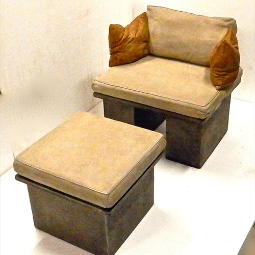 concrete bench, sofa bench, stone sofa bench, outdoor bench, cast stone bench, outdoor seat, outdoor couch,