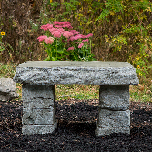 """Granite Bench"" Memorial Garden Bench, Handsculpted stone Bench, Concrete bench, Rock Bench, concrete patio furniture, light weight garden bench"
