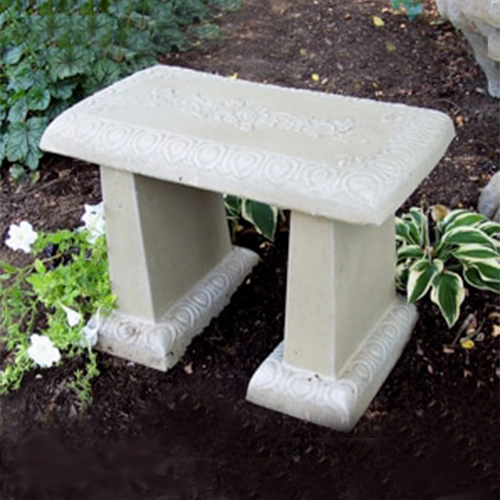 garden bench, concrete bench, patio bench, stone bench, ivy bench, small garden bench, outdoor furniture
