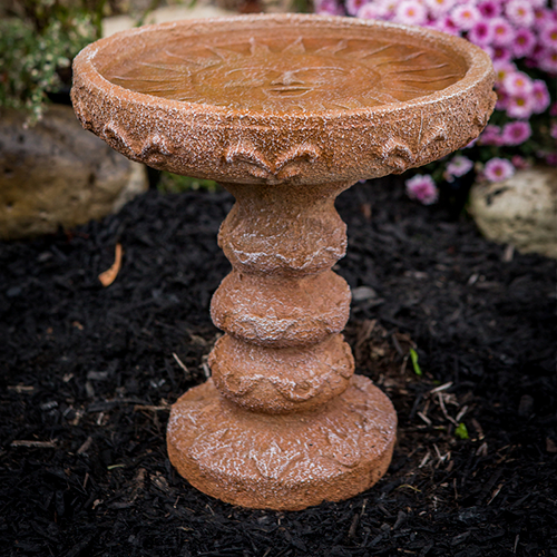 Happy Face Concrete, Cast Stone Sun Bird Bath, Athena Garden Bird Bath, terracotta Bird Bath, concrete sun face, Cast Stone Sun Bird Bath, Athena Garden Bird Bath, terracotta Bird Bath, concrete sun face