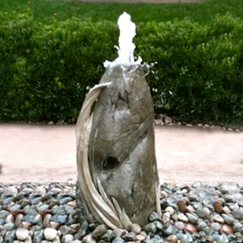 cement fountain, stone wheat fountain, concrete fountain, stone fountain, garden fountain, outdoor water feature, invisible water feature