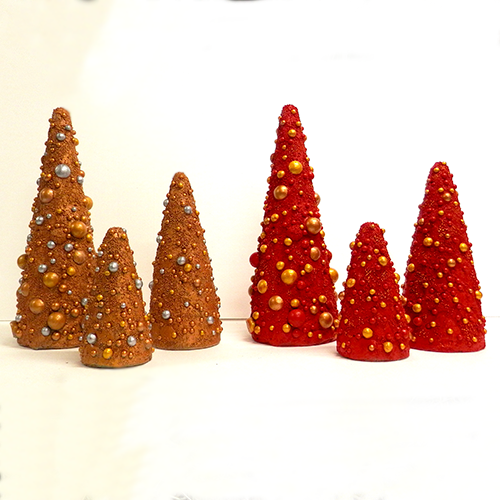 Christmas Ornament Cone Trees