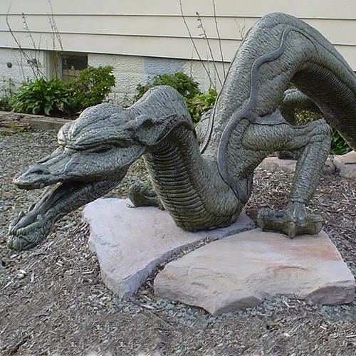 stone dragon sculpture, concrete dragon, cast stone dragon, dragon sculpture, outdoor stone dragon, hand sculpted dragon, dragon sculpture, large dragon sculpture