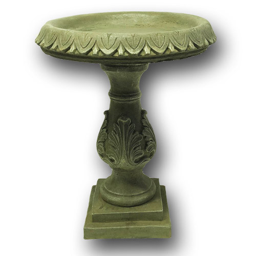 classical stone bird bath, concrete bird bath, cast stone bird bath, outdoor bird bath, garden decor, hand made bird bath