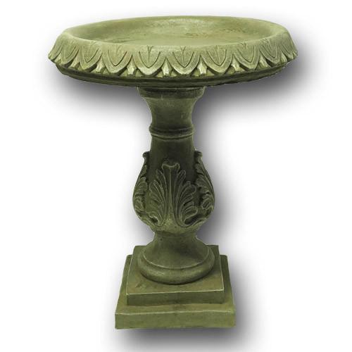 classical stone bird bath, concrete bird bath, cast stone bird bath, outdoor bird bath, garden decor, hand made bird bath