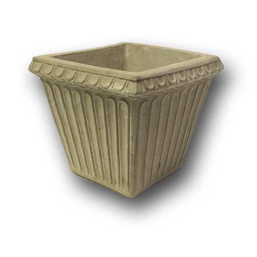 """Br-763 Cast Stone Fluted Stone Planter 14"""""""