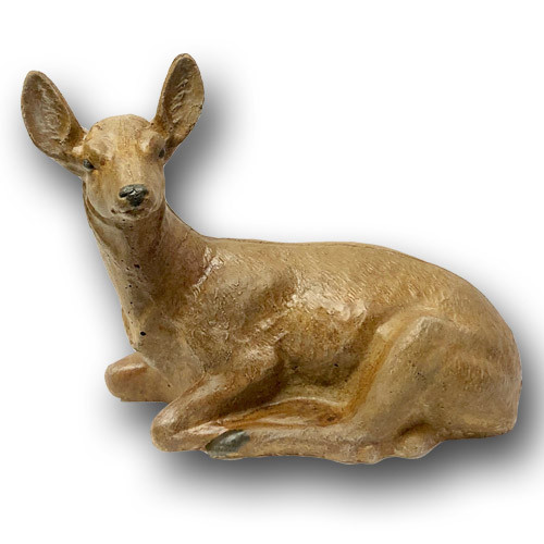 BR-001 Life Size Large laying Concrete Deer Sculpture