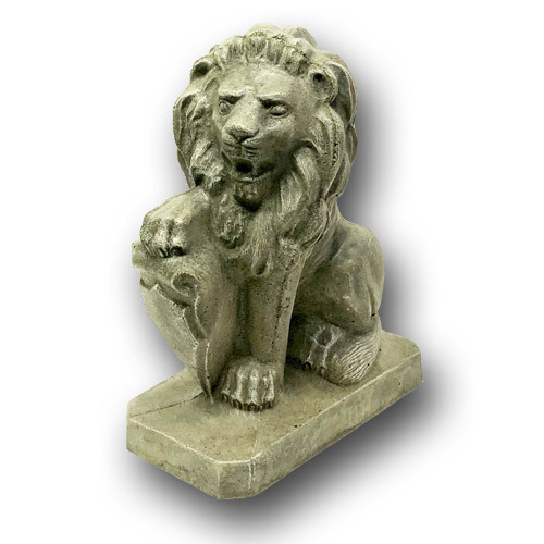 BR-010 Right Concrete Lion Shield