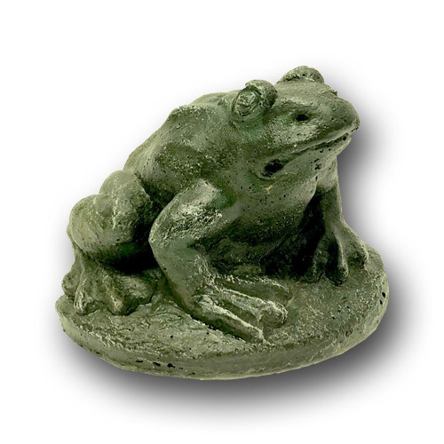 Small Concrete Frog Sculpture