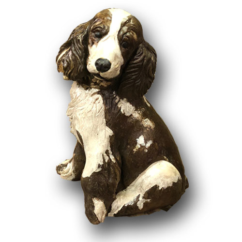 Cast Stone Large Spaniel Sculpture