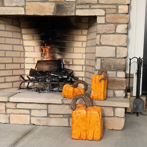 Each Cement Pumpkin casting is hand finished in vibrant colors to match your Landscape Decor. This whimsical Spookley the Square Pumpkin design uses the simple square pumpkin shape and vivid colors to give a new look for your Home & Garden Decor!