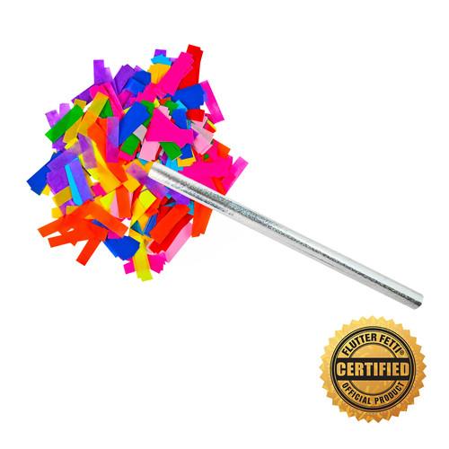 """14"""" Flutter FETTI® Confetti Sticks - Hand Flick Launcher - U.S Patent Pending."""