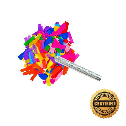 """6"""" Flutter FETTI® Confetti Stick w/Tissue  - Hand Flick Launcher"""
