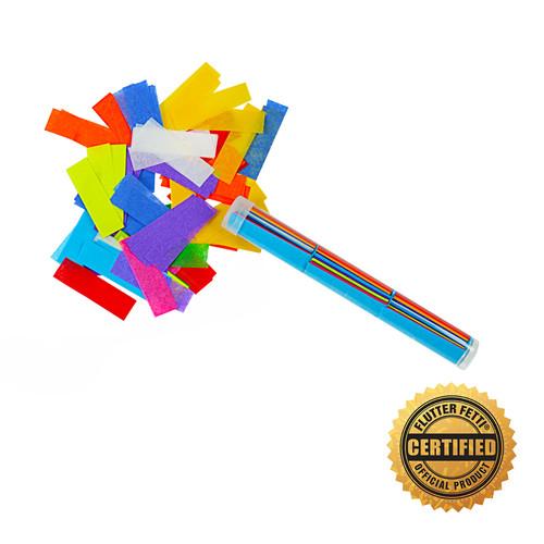 "6"" Flutter Flicker® Confetti - Hand Flick Launcher - U.S Patent Pending."