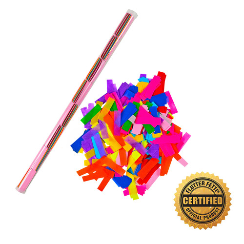 "18"" Speed Load Tube of Tissue Flutter FETTI® Confetti (Custom Colors)"