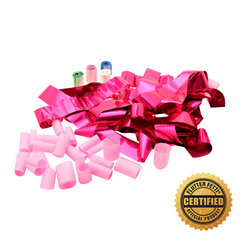 "Metallic Streamers w/Tissue Bubbles 1-1/2""x20'- Custom Colors (20)"