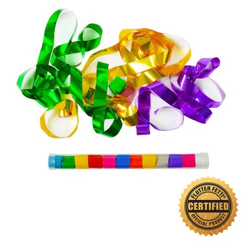 "9"" Speed Load Tube w/Metallic Streamers (Custom Colors)"