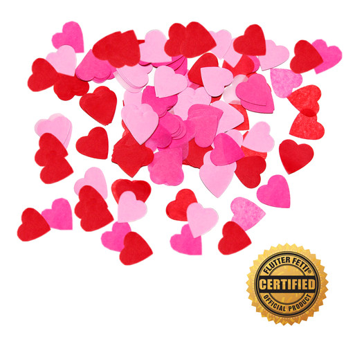 Die Cut Tissue Hearts - 1.5""