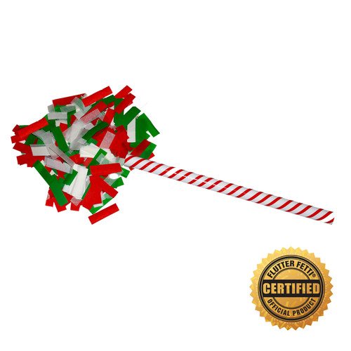 "14"" Candy Cane Flutter FETTI® Confetti Stick - Hand Flick Launcher"
