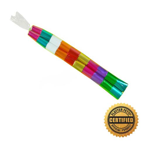 "2"" x 10"" Sleeve of Metallic Streamers (Custom Colors) (1"" X 18'- 20 per sleeve)"