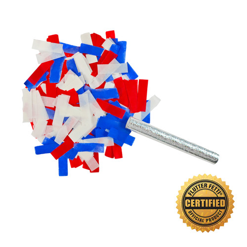 """6"""" Flutter FETTI® Confetti Stick w/Tissue (Custom Colors) - Hand Flick Launcher U.S Patent Pending"""