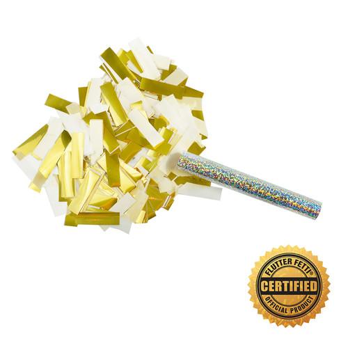 """6"""" Flutter FETTI® Confetti Stick w/75% Tissue & 25% Metallic - Hand Flick Launcher"""