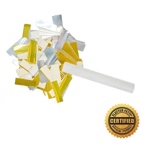 "6"" Wedding Confetti Filled w/Combination 50% Tissue & 50% Metallic - Hand Flick Launcher"
