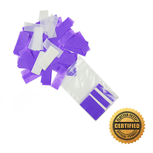 """3"""" X 4 1/2"""" Poly Bag Filled With Tissue Flutter FETTI® Confetti (Custom Colors)"""