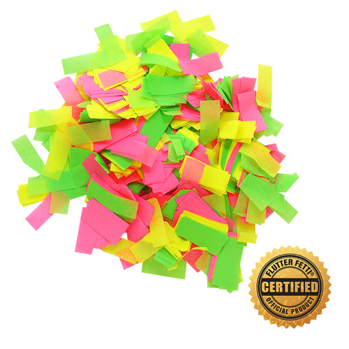 1 lb Bag of Bulk  Neon Tissue Flutter FETTI® Confetti (Custom Colors)