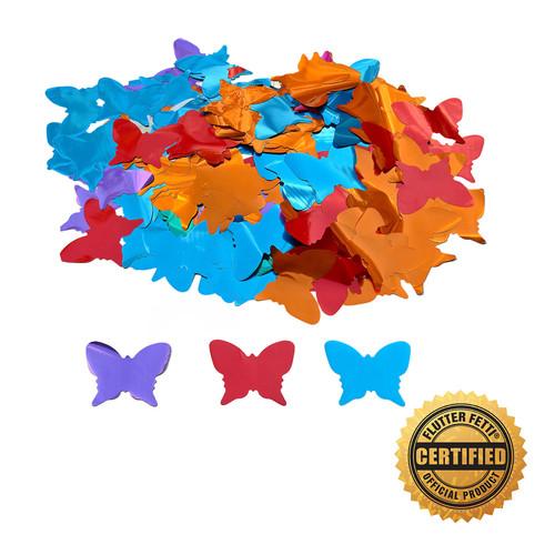 "Die Cut Metallic Butterflies by the Pound - 3"""