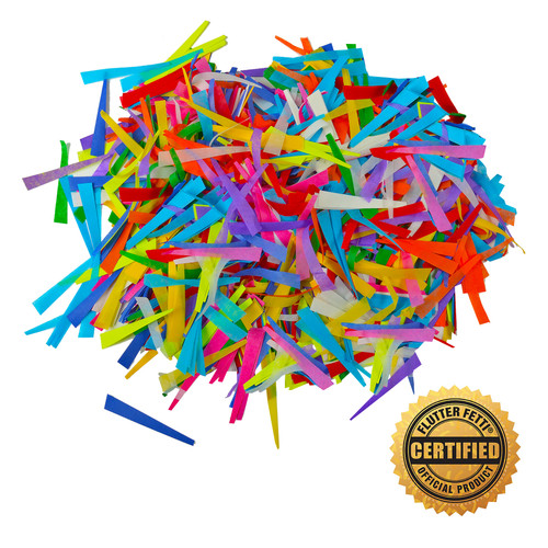 1 lb Bag of Bulk Tissue Corkscrew Confetti from Flutter FETTI® (Custom Colors)