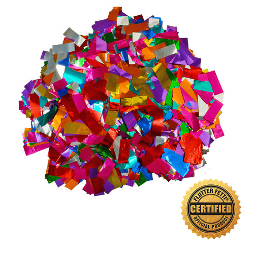 1 lb Bag of Bulk Metallic Flutter FETTI® Confetti - Custom Color